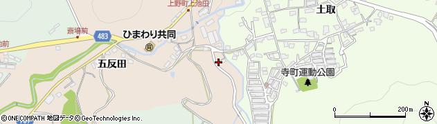京都府綾部市上野町(西ケ窪)周辺の地図