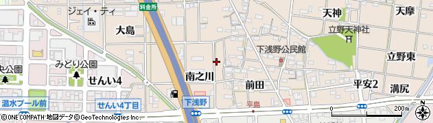 愛知県一宮市浅野(南之川)周辺の地図