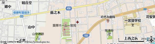 愛知県一宮市大和町苅安賀(狭間)周辺の地図