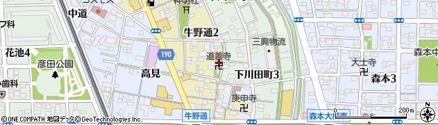道善寺周辺の地図