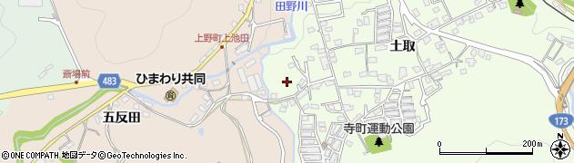 京都府綾部市寺町(山椒)周辺の地図