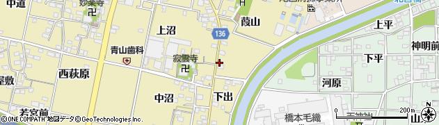 愛知県一宮市西萩原周辺の地図