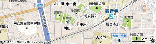 愛知県一宮市大和町苅安賀(打田)周辺の地図