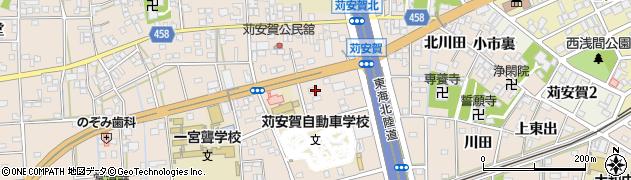 愛知県一宮市大和町苅安賀(火口上)周辺の地図