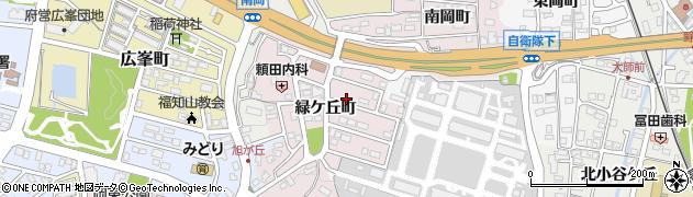 京都府福知山市緑ヶ丘町周辺の地図