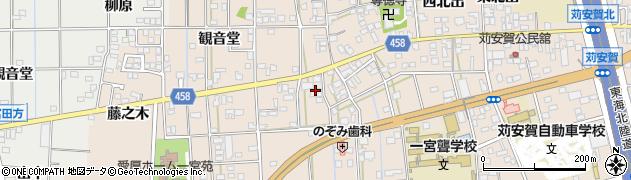 愛知県一宮市大和町苅安賀(地蔵前)周辺の地図