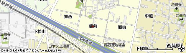 愛知県一宮市蓮池(郷前)周辺の地図