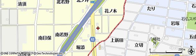 愛知県一宮市千秋町町屋(花ノ木)周辺の地図