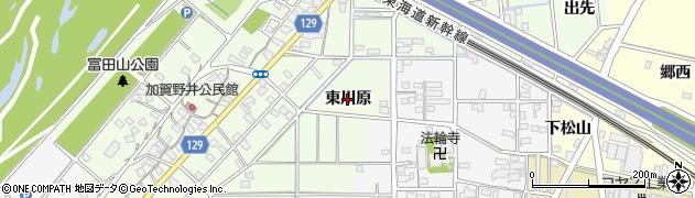 愛知県一宮市東加賀野井(東川原)周辺の地図