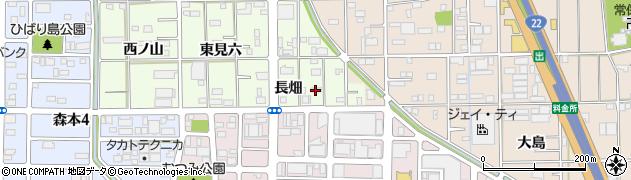 愛知県一宮市馬見塚(長畑)周辺の地図