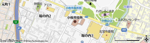 愛知県小牧市周辺の地図