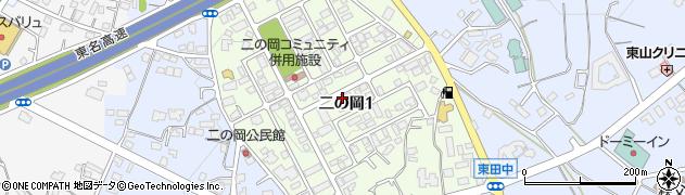 静岡県御殿場市二の岡周辺の地図