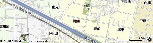 愛知県一宮市蓮池(郷西)周辺の地図