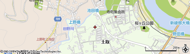 京都府綾部市寺町(小山)周辺の地図