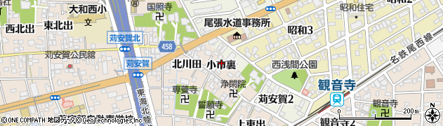 愛知県一宮市大和町苅安賀(小市裏)周辺の地図
