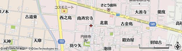 愛知県一宮市千秋町浅野羽根(南斉宮寺)周辺の地図