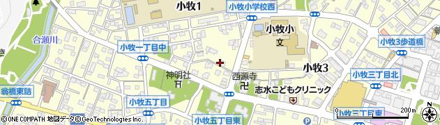 愛知県小牧市小牧周辺の地図