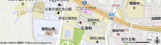 京都府福知山市広峯町周辺の地図