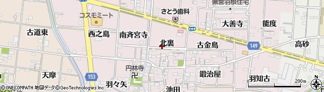 愛知県一宮市千秋町浅野羽根周辺の地図