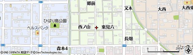 愛知県一宮市馬見塚(東見六)周辺の地図
