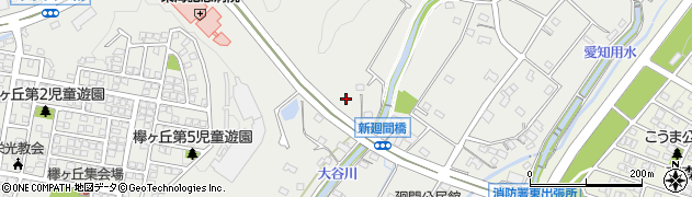 愛知県春日井市廻間町周辺の地図