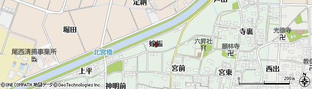 愛知県一宮市萩原町朝宮(嫁振)周辺の地図
