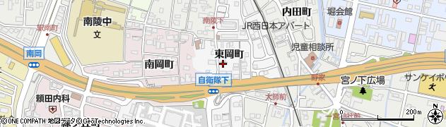 京都府福知山市東岡町周辺の地図