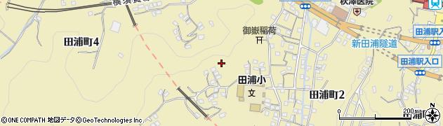 神奈川県横須賀市田浦町周辺の地図