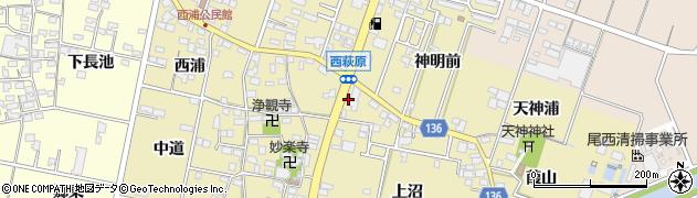愛知県一宮市西萩原(東浦)周辺の地図