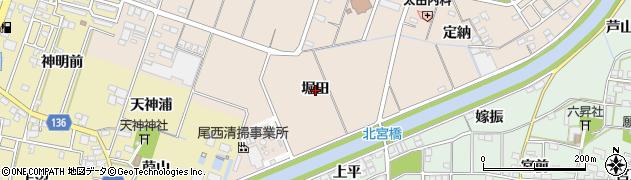 愛知県一宮市北今(堀田)周辺の地図