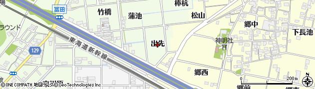 愛知県一宮市冨田(出先)周辺の地図