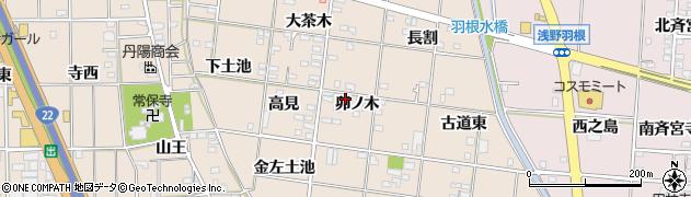 愛知県一宮市浅野(卯ノ木)周辺の地図