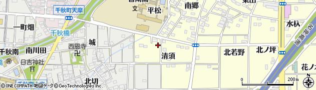 愛知県一宮市千秋町町屋(清須)周辺の地図
