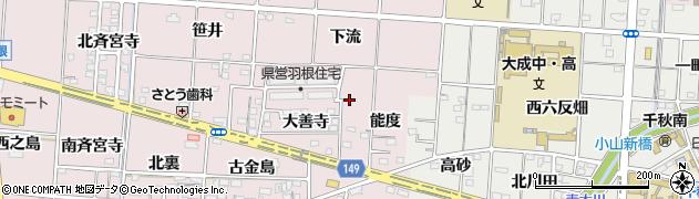 愛知県一宮市千秋町浅野羽根(治良五郎)周辺の地図