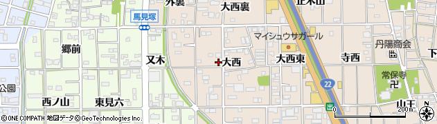 愛知県一宮市浅野(大西)周辺の地図