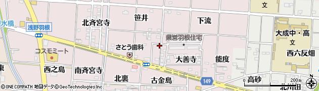 愛知県一宮市千秋町浅野羽根(東六反畑)周辺の地図