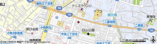 クローバー周辺の地図