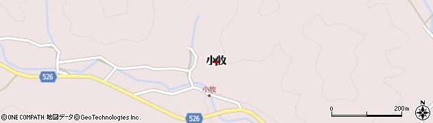 京都府福知山市小牧周辺の地図