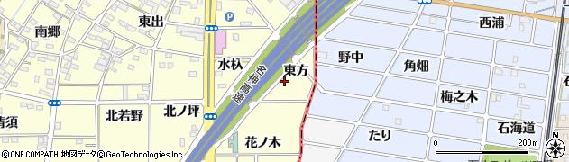 愛知県一宮市千秋町町屋(東方)周辺の地図