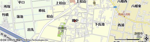 愛知県一宮市蓮池(郷中)周辺の地図