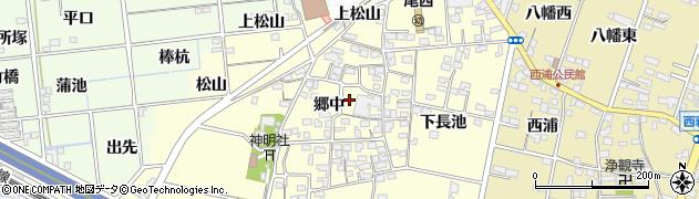 愛知県一宮市蓮池周辺の地図