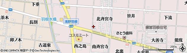 愛知県一宮市千秋町浅野羽根(長楽寺)周辺の地図
