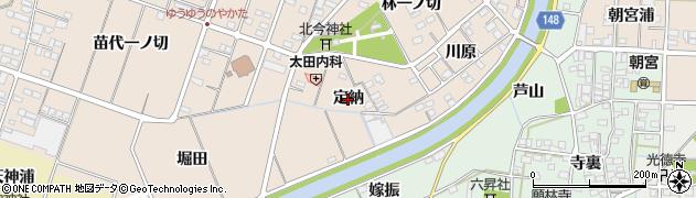 愛知県一宮市北今(定納)周辺の地図