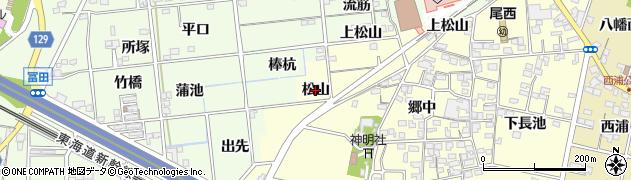 愛知県一宮市蓮池(松山)周辺の地図