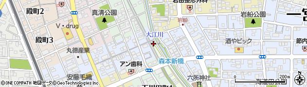愛知県一宮市丹陽町森本(川向)周辺の地図