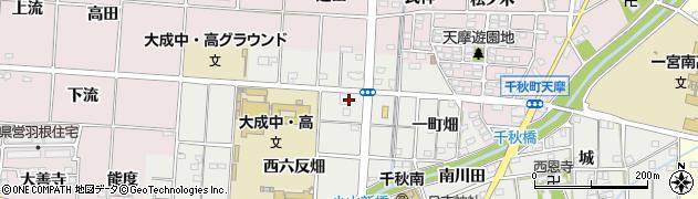 愛知県一宮市千秋町小山(東六反)周辺の地図