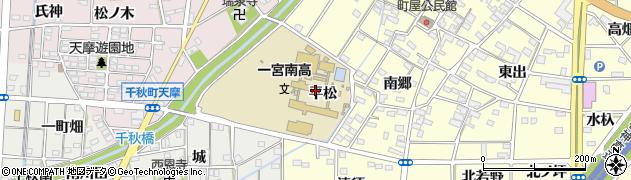 愛知県一宮市千秋町町屋(平松)周辺の地図