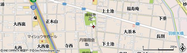 愛知県一宮市浅野(前林)周辺の地図