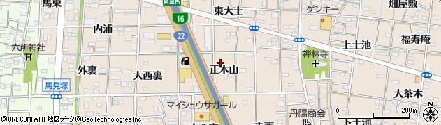 愛知県一宮市浅野(正木山)周辺の地図