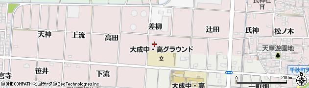 愛知県一宮市千秋町天摩(流)周辺の地図